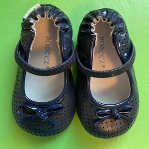 Robeez Navy Graceful Gracie Mary Janes Shoes